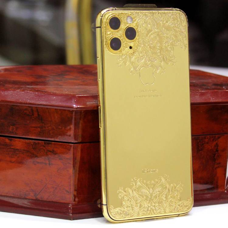 24 Carat Gold Plating on iphone 12 max pro Cover