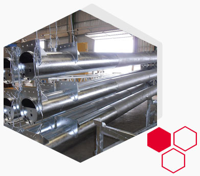 Hot Dip Galvanising coating on Pipes